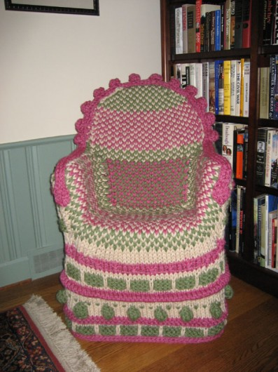 Free crochet patterns for chair seat covers crochet and - Crochet chair cover pattern ...