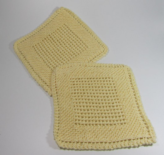 Grandmother s dishcloth, a variant Long Lake Yarns